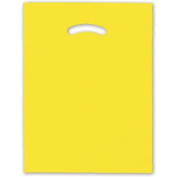 Deluxe Small Business Sales 248-1215-4 30cm x 38cm . Die-Cut Handle Bags Yellow