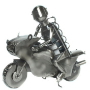 Wine Bottle Holder as a Motorcyclist / Racing Motorcyclist - the Present for Wine-Lovers and Biking Fans