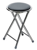 ROUND FOLDING STOOL With Chrome LEGS