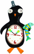 Enesco P1262 Penguin Clock Resin 31 cm