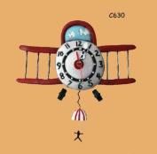 Enesco C630 Clock 34 cm Aeroplane Design Resin