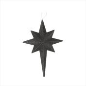 NorthLight 50cm . Jet Black Glittered Bethlehem Star Shatterproof Christmas Ornament