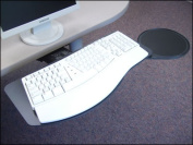 Systematix PMNPLFSS21T Slimline Natural Phenolic Keyboard Platform With Swivel Mouse & Lever Free Sit-Stand Arm
