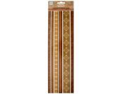 Bulk Buys CG465-30 Browns Decorative Fabric Borders Stickers