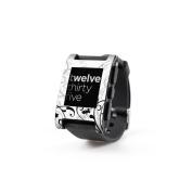 DecalGirl PWCH-WB-FLEUR Pebble Watch Skin - W & amp;B Fleur