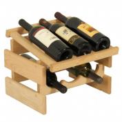 Wooden Mallet WRD31UN 6 Bottle Dakota Wine Rack with Display Top