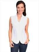 Scully PSL-059-WHT-M Womens Sleeveless Cantina Blouse White - Medium