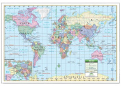 Universal Map 11766 100cm x 70cm World Paper - Rolled Map