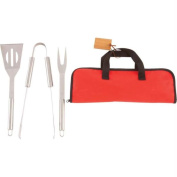 Chefmaster KTBQSS4B Chefmaster 4pc Stainless Steel Barbeque Tool Set