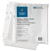 Business Source BSN74447 Sheet ProtectorsTop Load2.0mil11 in. x 22cm .100-PKSemi-CL