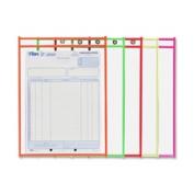 C-Line CLI43913 Shop Ticket Holder 23cm . x 30cm . Metal Eyelet Neon Green