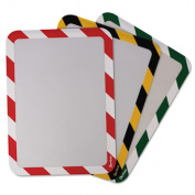 Tarifold P194993 Magneto Safety Frame Display Pockets - Repositionable Self-Adhesive Red & White