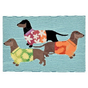 TransOceanImports FTP23158344 Frontporch Tropical Hounds Multi Rugs 60cm x 90cm .