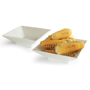 Rosseto Serving Solutions CP001 27cm . Square Porcelain Bowl 2 Piece Set