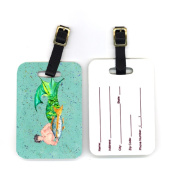 Carolines Treasures 8345BT 10cm x 7cm . Pair of Merman Luggage Tag