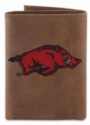 ZeppelinProducts UAR-IWE2-CRZH-LBR Arkansas Trifold Embroidered Leather Wallet