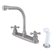 Kingston Brass KB718AX High Arch Kitchen Faucet With White Sprayer