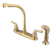 Kingston Brass KB752SP 20cm . High Arch Kitchen Faucet With Sprayer
