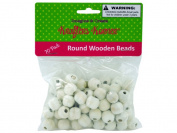 Round wooden beads - Case of 100