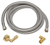 Homewerks 7223-72-38-6E 0.38 x 0.38 OD x 180cm . Stainless Steel Dish Washer Supply Line
