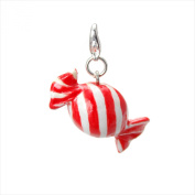 Handmade Porcelain [Red Candy] Clip On Charm