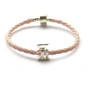 Sterling Silver 21st Birthday Bead Charm Bracelet in Pandora Style