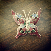 Vintage Detailed Butterfly Brooch