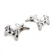Silver Stainless Steel Playstation Style Controllers Novelty Cufflinks