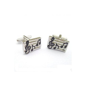 Onyx-Art Sheet Music Cufflinks