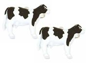 Black/White Cow Cufflinks by Zennor