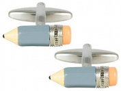 Blue/Silver Pencil Cufflinks by Zennor