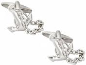 Silver Anchor Cufflinks by Zennor