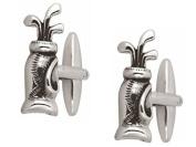 Silver Golf Bag Cufflinks by Zennor