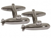 Grey Submarine Cufflinks by Zennor