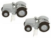 Grey Vintage Tractor Cufflinks by Zennor
