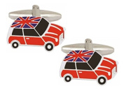Red Mini Union Jack Roof Cufflinks by Zennor
