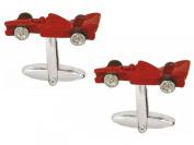 Red Race Car Cufflinks by Zennor