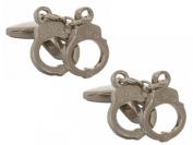 Silver Handcuff Cufflinks by Zennor