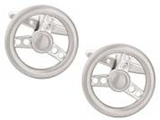 Silver Steering Wheel Cufflinks by Zennor