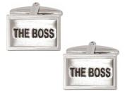 Silver/Black The Boss Cufflinks by Zennor