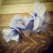 Misty Violet Flower Hairclip and Brooch