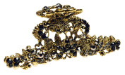 Gold & Pewter Crystal Jaw Clip