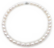 17 Inches AAA White Tear Drop Cultured Natural Freshwater Pearl Luxury 43cm Necklace Princess Length with Gift Box