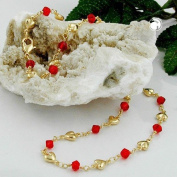 Necklace, Fantasy, Red Glass Beads, AMD