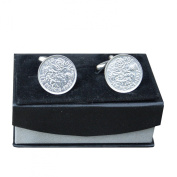 Luxury Handmade Fine Pewter Lucky English Sixpence Cufflinks, by William Sturt Fine Pewter