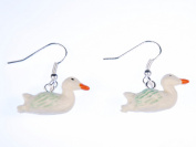 Ducks Duck Pendant Earrings Earrings Bird White Swan Ducklings Rubber