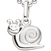 JOBO Children's Pendant Snake Design 925 Sterling Silver Rhodium-Plated Partially Matted