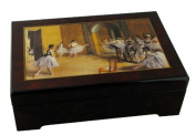 Musical Jewellery Box Wooden with reproduction of an array of Edgar Degas and tune of Swan Lake)