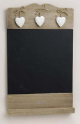 Country House Style Memo Board / Kitchen Board with 3 Hearts