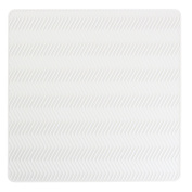 InterDesign 63611EU Chevron Silicone Drying Mat, Medium, White